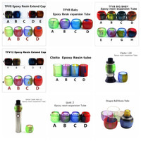 Wholesale Dragon Resin - Replacement Resin Tube Caps for Smok TFV12 TFV8 Baby Big Baby Tank Cleito 120 Vape pen 22 iJust 2 Dragon Ball RDTA CP RTA Drip Tip Glass