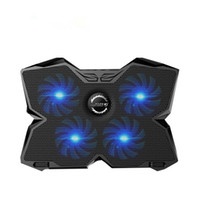 "Wholesale Cooler Pad Led - CoolCold Ice Magic 2 Cooler with 4 Silence Fans LED USB 2.0 Laptop Cooling Pad 12""13""14""15""17""Laptop Holder"