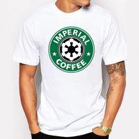 Wholesale Cheap Organic Clothing - Men's Clothing Imperial Coffee Printed Crossfit T Shirts Men T-Shirt Top Tees Short Sleeve O Neck Clothing cheap T-Shirts