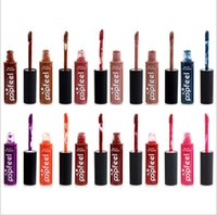 Wholesale Tattoo Full Set - New Brand Popfeel Lipstick Set Nude Matte Liquid Lipstick Gloss Long-lasting Waterproof lipstick Batom Velvet Nude Tattoo