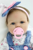 Wholesale Resin Baby Dolls - Reborn Dolls NPK Handmade Lifelike Newborn Baby Doll ( Silicone Full Body, Waterproof), 22inch 55cm Weighted Baby Girl Simulation Toys D32