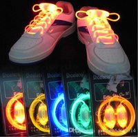 Wholesale Hair Glow Sticks - Colorful LED Flash Light Up Shoe Laces Party Disco Shoes Strap Glow Stick Shoelaces Boys Girls Multicolor Shoe Strings b497