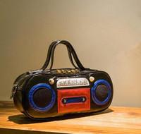 Wholesale Punk Rivet Chain Bag - Factory outlet brand handbag bag retro fan in Europe Music recorder street style radio brand ladies handbag hip-hop punk bag