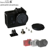 Wholesale Filter Case Hard - Wholesale- Newest SJCAM sj5000 Protective Housing Case +UV filter Aluminum Alloy cage Metal frame for SJCAM SJ5000 WIFI SJ 5000 SJ5000X