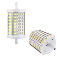 Wholesale Dimmable Led Floodlights - R7S LED 9W 42 LEDs Light 118mm SMD 5050 Warm   Cold White Led Light Floodlight Dimmable Non-Dimmable LED Corn Light 110-240V Replace Halogen