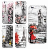 Wholesale Apples New York - Fashion London Paris New york Lover Autumn Maple Soft Clear Phone Case For iPhone 6 6S 6Plus 7 7Plus 5 5S SE SAMSUNG