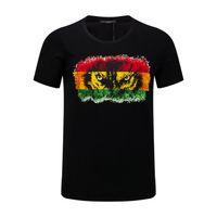 Wholesale Tshirts Brands Xxl - 2017 cool Men black short sleeve cotton printed tiger tshirts tee shirt top brand new with tags size M XXL XXXL