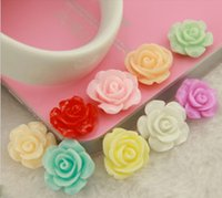 Wholesale resin flatback christmas - 10mm 100pcs Mix Color Resin Flower Crafts And Scrapbooking Flatback Resin Cabochons Diy Manualidades Ornaments Resina Flowers