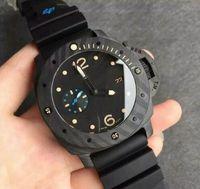 Wholesale Professional Divers - 2017 Luxury 47mm pam00616 pam616 divers professional submersible carbotech firenze men's watch sapphire carbon case wristwatch automatic W
