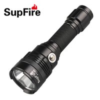 Wholesale portable rechargable battery - LED FLashlight 18650 Rechargable Battery Middle Switch Waterproof Super Bright 5 Modes Outdoor Sports Handy Torch Hiking Fishing Daily Using