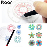 2-4 Years spirograph drawing - Spirograph Geometric Ruler Creative Students Drafting Drawing Kit Kids Toys Set