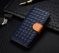 Wholesale Iphone 4s Fashion Wallet - 2017 New Hot Creative Wallet Case For iphone 4s 5 6s 7 plus Fashion Leather Woven Cellphone Case Kickstand Phone Cover Mobile Accessory