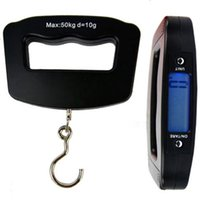 Wholesale Hanging Luggage Fishing Weight Scale - Wholesale-2016 New Arrival LCD Digital Screen 50kg 10g Electronic Scale Hook Fish Hanging Weight Luggage