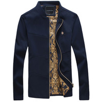Wholesale Trend Fashion Jacket Korean - Plus Size New Fashion Brand Jacket Men Trend Stand Collar Korean Slim Fit Mens Designer Clothes Men Casual Jackets and Coats
