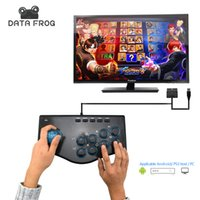 Wholesale Arcade Games Pc - Wholesale- Data Frog Arcade Joystick USB Game Joysticks For PC Compatible For Android PS3 Console Plug And Play Controller Free Shipping