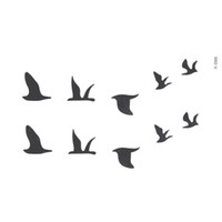 Wholesale Body Paint Designs - Wholesale- New Design Swallow Temporary Tattoo Stickers Bird Flash Tattoo Removable Waterproof Temporary Body Art Painting