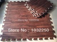 eva flooring оптовых-Оптовая торговля-новый 9 кв. футов древесины блокировки сверхмощный пол пены головоломки работы тренажерный зал коврик коричневый