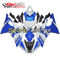 Wholesale Yamaha R6 Motor - White Blue Full Fairings For Yamaha YZF R6 08 - 15 YZF-R6 2008 2009 2010 2012 2013 2014 2015 ABS Motorcycle Bodywork Motor Cowlings Covers