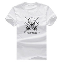 Wholesale Fish Dying - Fish Or Die New Fashion Man T-Shirt Cotton O Neck Mens Short Sleeve Mens tshirt Male Tops Tees Wholesale