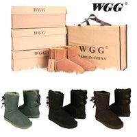 Venta al por mayor New WGG Women's Australia Classic botas altas Women girl boots Boot Snow Winter botas fucsia black blue rojas leather shoes
