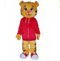 Wholesale Direct Sales Cartoons - Factory direct sale EVA Material Helmet cartoon Cakes Daniel Tiger Mascot Costume Daniele Tigere Mascot Costumes