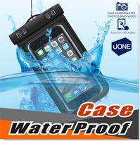 apple tams samsung venda por atacado-Universal para iphone 7 6 6 s plus samsung s9 s7 à prova d 'água saco saco de telefone celular à prova d' água saco seco para telefone inteligente até 5.8 polegada diagonal