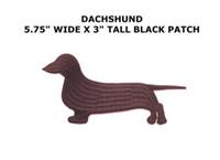 """Wholesale Dog Costume Dachshund - 5.75"""" DACHSHUND dog pet animal Large Patch TV Movie Animated Costume Embroidered Emblem applique iron on badge wappen clothing"""
