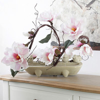 Wholesale Branch Table - Artificial Magnolia Silk Fake Flower Branch Fleur Artificielle Flores Arrange Table Wedding Home Decor Party Accessory Df 615
