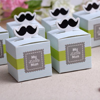 Wholesale green beard - Baby Shower Favors Gifts Candy Boxes Wedding Favor Candy Box Favor Holders Wedding Supplies Baby Birsthday Cute Beard Decoration Gifts