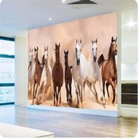 Wholesale Living Proof Full - Wholesale-papel de parede 3d wallpaper European minimalist Horse Animal Wall paper speed full steam ahead mural wallpaper for living room