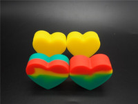 Wholesale Rubber Oil Seals - A Good Seal 18ml Silicone Rubber Jars Container Heart Shape Oil Jars For Sale 100 Pcs lot
