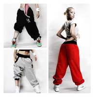Wholesale Beige Slacks Men - Wholesale-Mens Womens Trousers Slacks Casual Harem Baggy Hip Hop Dance Sweat Pants