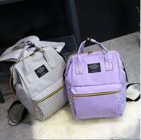 novo Anello Canvas School Mochila para adolescentes New Fashion Colorful Handbag lazer Ombro Crossbody Bags Vintage Satchel backpack