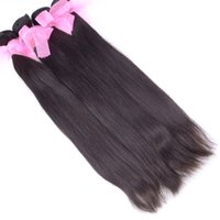 Wholesale Virgin Remy 2pcs - Unprocessed 100% Brazilian Straight Virgin Hair 2pcs lot Human Hair Weave 10-26inch 1B Hair Extensions Free Shipping Sold by Alivirginhair
