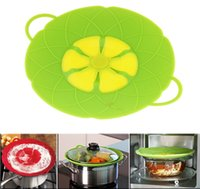 Wholesale Oven Covers - Flower Cookware Parts Silicone Boil Over Spill Lid Stopper Oven Safe For Pot Pan Cover Cooking Tools Free Shipping 300Pcs