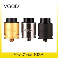 Wholesale Atomizer Liquids - Authentic VGOD Pro Drip RDA Tank With 24MM Deameter E-liquid Capacity Atomizers Fit Original VGOD Pro Mech Mod 100% Genuine 2247002