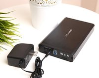 Wholesale aluminum hard drive - High Quality Aluminum Alloy Acasis BA-06US 3.5 Inch USB 3.0 To SATA External HDD Enclosure 4TB Hard Drive Case Black 10059TW
