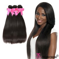 Wholesale Cheap Good Remy Hair - 7A Unprocessed Brazilian Straight Virgin Hair Cheap Hair Extension Remy Human Hair Weave 3 Bundle Deals Natural Color Good Quality
