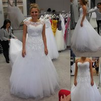 Wholesale Lace Straps Buy - Bohemian Wedding Dresses 2017 Covered Buttons Cap Sleeve Sweetheart Tulle Appliqued Lace Buy Direct From China Handmade Country Bridal Gowns
