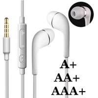 Wholesale Microphone Galaxy S3 - AAA+ Quality In-Ear Stereo Earphones 3.5mm earbuds with Mic Remote Volume Control headphone for samsung galaxy s3 s4 s6 note 2 4 mp3