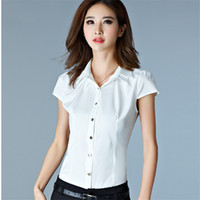 Wholesale Business Shirts For Women Casual - Office Shirt Fashion Spring Autumn Women Shirt for Lady Female Summer Casual Work Business OL Shirt Tops Tees