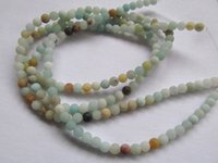 2strands 3-16mm Naturale Amazonite perline Gemstones all'ingrosso rotondo palla arcobaleno grana ambra di Amazonite Crystal