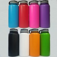 Wholesale 8 colors Vacuum Water Bottle oz Insulated Stainless Steel Water Bottle Wide Mouth Big Capacity Travel Water Bottles
