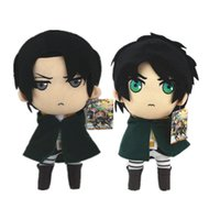 Wholesale Shingeki Kyojin Rivaille - Attack On Titan plush toys 30cm Shingeki No Kyojin Levi Rivaille Figure stuffed Dolls Cosplay kawaii Anime Toy for kids gift