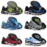 Wholesale Sport Comfort Sneakers - New Mens Air Sports Tn Running Shoes Fashion Comfort Barefoot Walking Training Sporting Shoes Sneakers Size 40-46