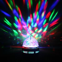 Wholesale Stage Light Lamps - 2017 Newest Color Bulb For Dancing E27 6w RGB Led Bulbs Mini Party Light Dance Party Lamps Auto Rotating Stage Disco Chrismas Lighting