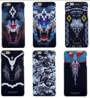 Wholesale Owl Phone Covers - marcelo burlon Case Wolf Owl Snake TPU cover For iPhone 6 Plus Phone Case Coque Capa