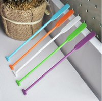 Wholesale Wholesale Plastic Coffee Stirrers - Quant shaped stirrer Creative bar coffee tea stirring rod Multi candy color PP muddler Free shipping