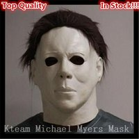 Wholesale Toys Full Men - Top Quality Famous Movie Horror Halloween Michael Myers Mask, Adult Party Masquerade Cosplay Latex Face Head Mask Toy Free size