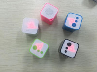 Wholesale Wholesale Cheap Mini Speakers - New arrival Mini Portable square box small speaker MP3 player Support SD Card with LED Light speaker for iphone7 sumsung cellphones cheap